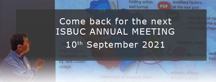 Come back later for the ISBUC Annual Meeting 2021